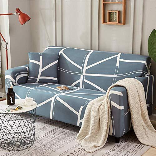 AGGF Funda elástica para sofá Funda para sofá de 1 Pieza, 1, 2, 3, 4 plazas con una Funda de Almohada Suave y cómoda con Correas Antideslizantes Debajo de los Muebles para la Sala de Estar