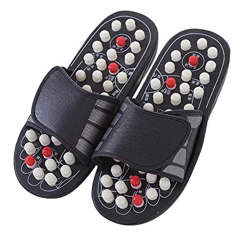 Zapatillas de Masaje de acupresión Zapatillas de Masaje Acupresión Masajeador de pies Acupoint Terapia magnética Cuidado de pies sanos Masajeador Imán Zapatos de Playa Suaves