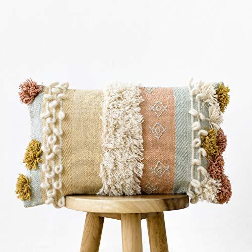 Kenay Home - Cojín Decorativo Sofá Salón Cama Menta Hana