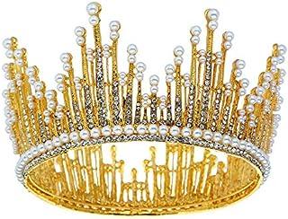 LUCKYYY Accessori da Sposa Corona diadema barocca da Sposa, Corona di Diamanti ad Acqua