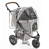 Zamboo Dog Pram Rain Cover for TOGfit Pet Roadster - Rain Cover for Dog Buggy with Rear Side Entry,...