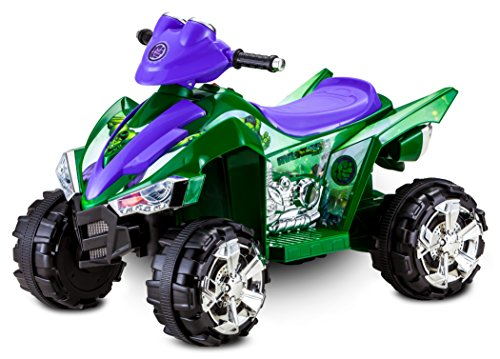 Kid Trax Marvel Incredible Hulk Toddler ATV Ride On Toy, 6 Volt Battery, 3-5 Years, Max Rider Weight 60 lbs, LED Head Lights, Hulk Green