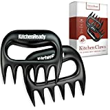 KitchenReady Pulled Pork Shredder Claws & BBQ Meat Forks - Paws for Pulling Brisket from Grill Smoker or Slow Cooker - Shredding Handling & Carving