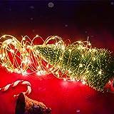 LEDGLE 8er Stück LED Lichterkette Batterie Kupfer Drahtlichterkette Warmweiß 1.2M&24LEDs Lichterketten Weihnachten Batteriebetrieben wasserdichte Lichter Flasche Dekoration - 5