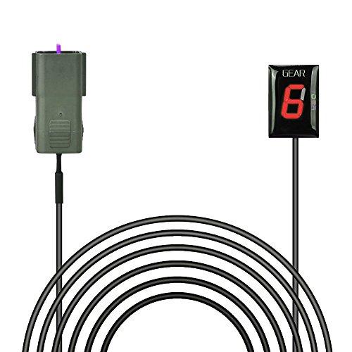 Indicateur de Vitesse étanche pour Moto Affichage LED Plug & Play pour Kawasaki Z750 et Z1000 (2007~2009) [Rouge]