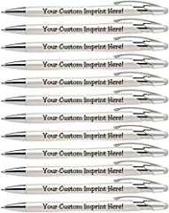 PEARLIZED PENS (12 pack) ★ This personalized pen writes like a dream. This classy writing pen can be customized with a name, a message, a quote or anything in-between. The possibilities are endless. Make this elegent pen a one of a kind by customizin...