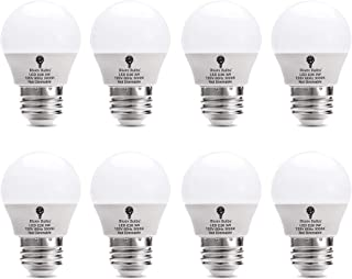 8 Pack BlueX 3W G14 LED Light Bulb 3000K Warm White - 25W Equivalent - E26 Base 120V - Small Night Light Bulbs for Bedroom, Ceiling Fan, Table Lamp, Kitchen, Pendant Fixtures, Dinning Room