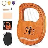 topnaca arpa lira 16 corde in metallo e multistrato di mogano strumento a corda con chiave per accordare e borsa