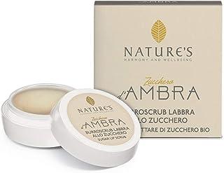 Nature's Zucchero D'Ambra Burroscrub Labbra Allo Zucchero Ambra E Nettare Di Zucchero Bio 8 ml