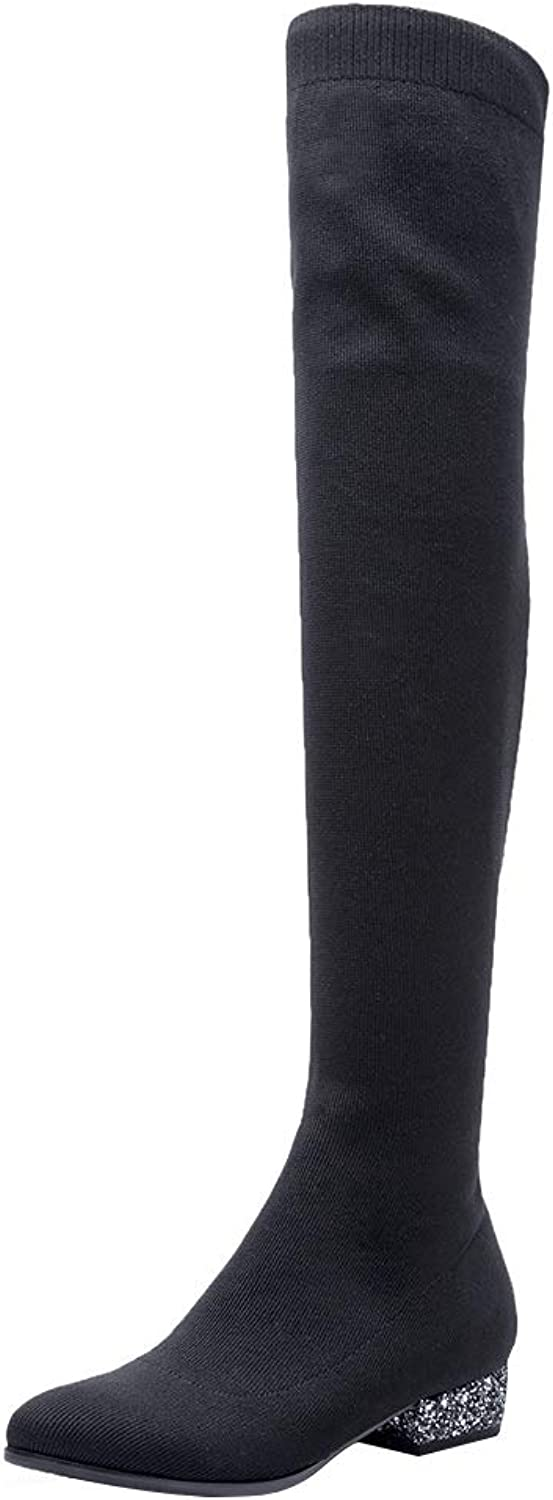 MAYPIE Womens Toyear Synthetic Slip-on Over-The-Knee Boots