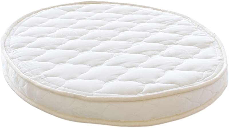 Certified Organic Natural Rubber Latex Oval Bassinet Mattress 23x29x2 5 Inches