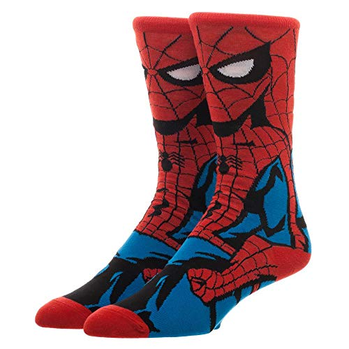 Product Image 1: Spider-Man Crew Socks Marvel Spider-Man Socks – Spider-Man Accessories Marvel Socks – Spiderman Gift