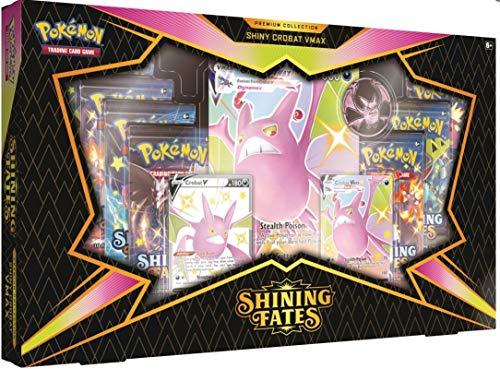 Pokemon Trading Card Game Shining Fates Crobat VMAX Premium Collection [7 Booster Packs, 2 Promo...