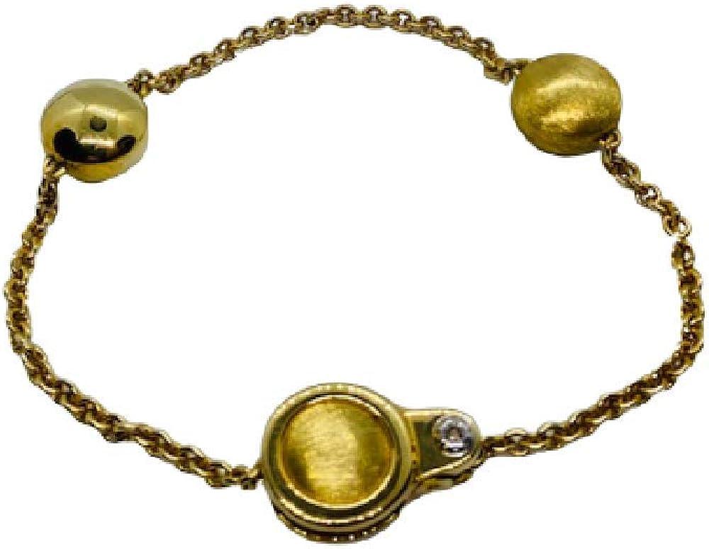 Chimento ,bracciale per donna in oro 18 kt(11,6 gr) con diamante 0,03 ct 1B01075ZB1200