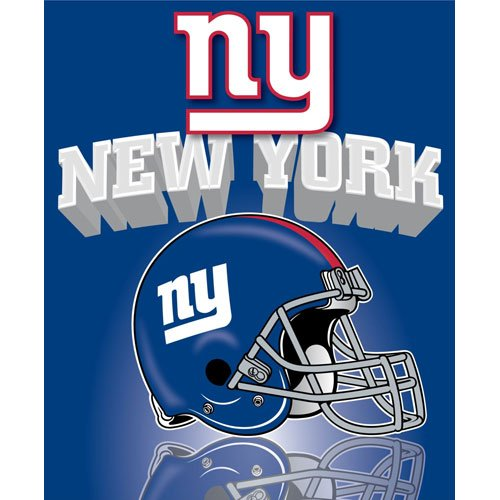 New York Giants Light Weight Fleece NFL Blanket (Grid Iron) (50x60 )