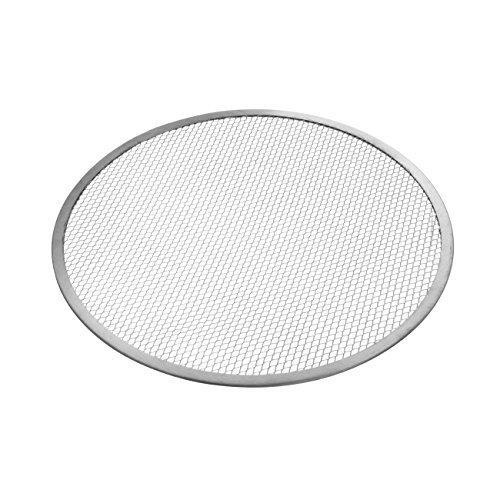 HENDI Pizza Screen, Pizzagitter, Pizzablech, Pizzaschieber, Ideal für gleichmäßiges Pizza-Backen, ø300mm, Aluminium