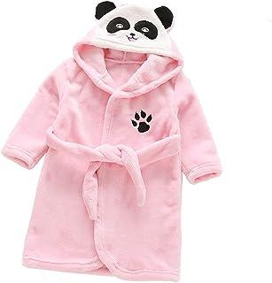 d5680d2fc933d D Gamins Encapuchonné Flanelle Peignoir Hiver Tigre Panda Peignoir Pyjamas  Vêtements de Nuit pour 3-
