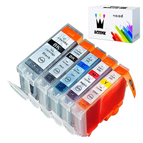 Price comparison product image AceInk 5 Packs Compatible Canon PGI-5 CLI-8 Ink Cartridges High Yield with Latest Chips Works for Canon PIXMA iP4200 iP4500 iP5200 MP-500 MP-530 MP-830 MP-950 MP-960 MP-970 MX-850 Printers