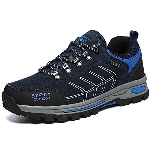 Minetom Erwachsene Trekking Wanderschuhe Leicht Wasserdicht Wandern Halbschuhe Outdoor Schuhe Sneaker für Herren Damen G Blau EU 44