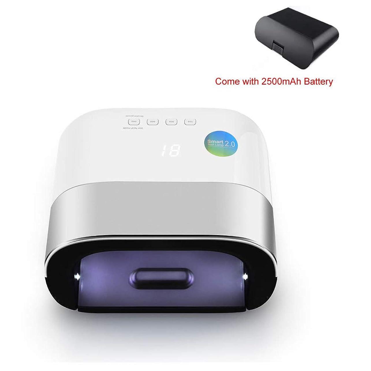 大きい挨拶盟主48W UV LED ネイルライトネイルと爪ネイルポリッシュ硬化39個 LED ビーズ (グレー) 充電式ネイルランプ用センサー,Chargeable