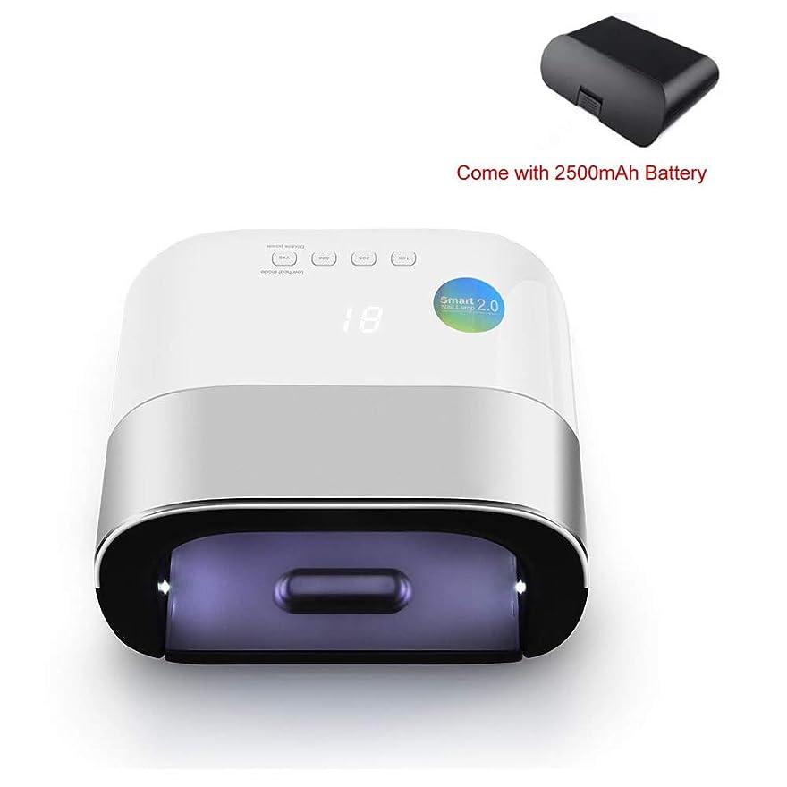 現象もし征服者48W UV LED ネイルライトネイルと爪ネイルポリッシュ硬化39個 LED ビーズ (グレー) 充電式ネイルランプ用センサー,Chargeable