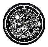 Reloj de pared de plástico Yin Yang