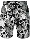 Loveternal Hawaiian Beach Shorts 3D Printed Skull Surf Trunks Quick Dry Swim Shorts Adjustable...