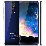 Cubot Power Android 8.1 4G-LTE Dual SIM Smartphone ohne Vertrag, 5.99 Zoll (18:9) IPS FHD+ Touch Bildschirm mit 6000 mAh Akku, 6GB Ram+128GB interner Speicher, 20MP Hauptkamera / 13MP Frontkamera, Blau