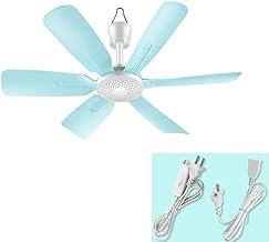MAZHOONG FANS Ventilateur De Plafond Ventilateur 17,7 Pouces Faible Bruit Ventilateur Électrique Portable for Dortoir Cham...