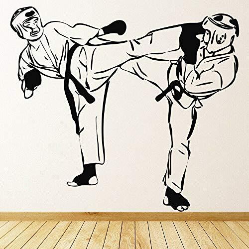 Tianpengyuanshuai Kampfkunst Kampf Wandtattoos Fitnessraum Extremsport Vinyl Wandaufkleber 55X63cm