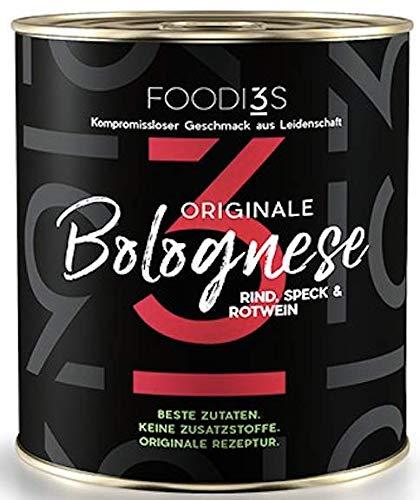 3Foodies-Original Bolognese   Original italienisch   Keine Zusatzstoffe   Feinkostproduktion 300ml