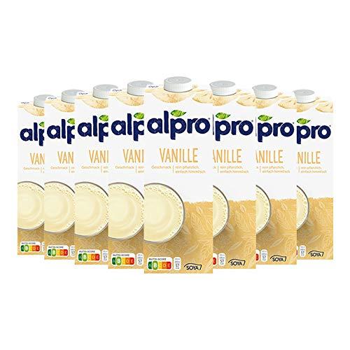 8x Alpro - Soya Drink Vanille - 1000ml