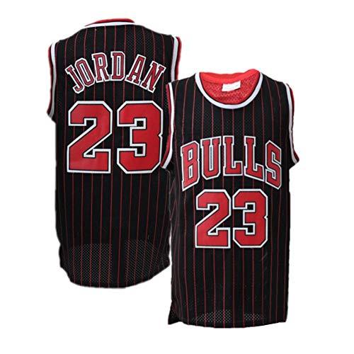 Legend Herren Basketball Trikot/Michael Jordan 23# Chicago Bulls Sommer Ärmelloses Besticktes Retro Jersey Sport Top / 90er Hip Hop Kleidung für Party für/Damen/Herren/Kinder (S-XXL)-Rare-