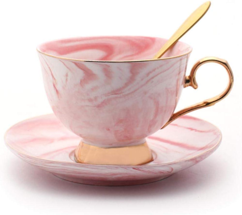 Porcelain Tea Cup and Saucer Set Manufacturer direct Daily bargain sale delivery Se Coffee Vintage