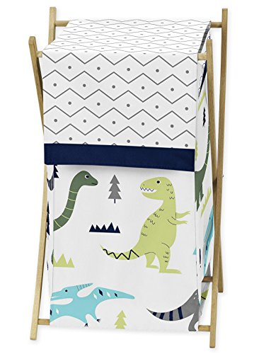 Baby Children Kids Clothes Laundry Hamper for Blue and Green Modern Dinosaur Bedding Set