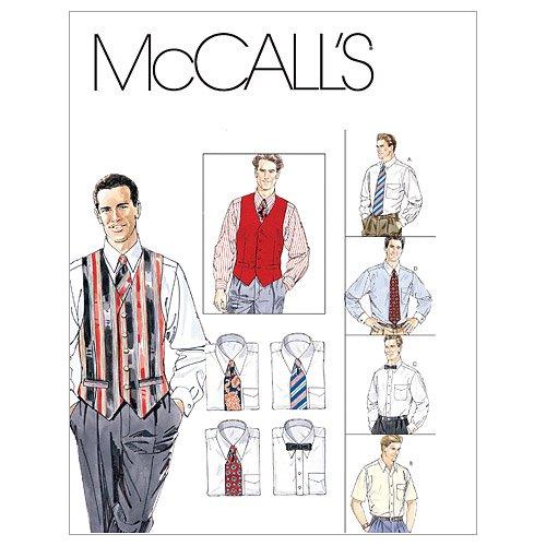 McCall's M2447 - Patrones de Costura para Camisas, Chalecos y Corbatas