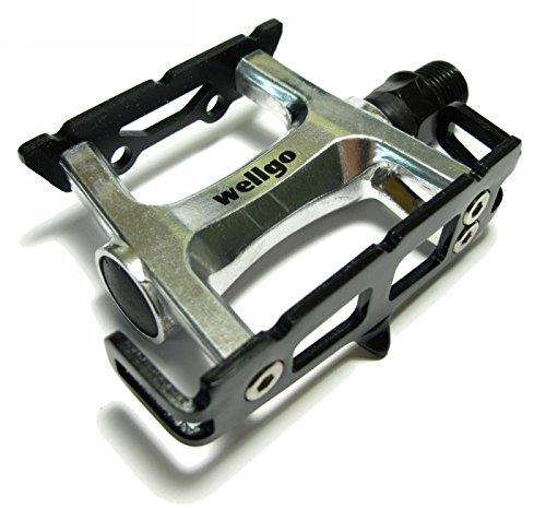 Wellgo R25 Track Pedals Silver Black Cage