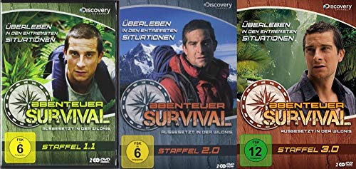 Abenteuer Survival Collection – Staffel 1.1 + 2.0 + 3.0 – 6 DVD Limited Edition