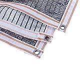 Malla Sombreo Paño Reflectante de Aluminio, Red de Protección Solar Blanca / Plateada Con Resistente a Los Rayos UV, El Panel de La Lona de La Malla de La Sombra del Jardín para El Césped del Patio