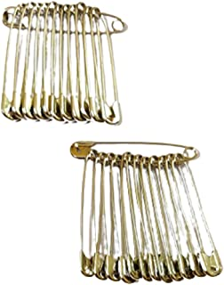 DMS RETAIL Silver Safety Pins for Girls and Women 2.5 Inches - Set of 24 Safety Pins - Big Size