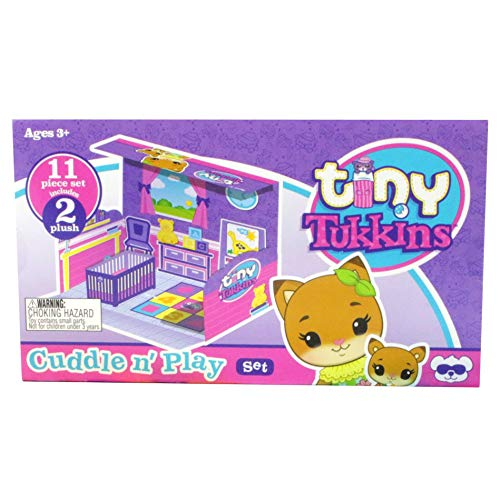 Tiny Tukkins Playset Assortment with Plush Stuffed Character, Fox, Toy
