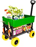 Mighty Max Cart - Adjustable Length Utility Wagon - Includes Tub & Interchangeable Accessories - Compact Easy Storage Pull Cart - All Terrain Wheels