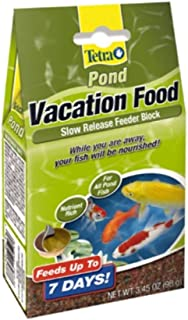 (4 Pack) TetraPond Vacation Food Slow Release Feeder Block, 3.45 Ounce Each