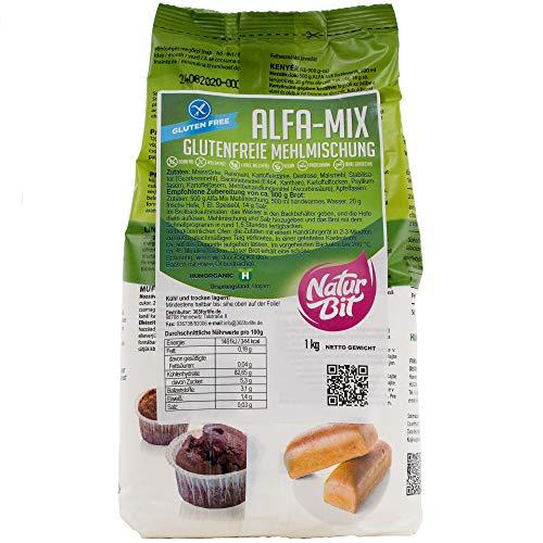 Alfa Mix Mehlmischung (Glutenfrei) 1000 g I veganes und glutenfreies Mehl zum Backen und Kochen als Ersatzmehl für Weizenmehl