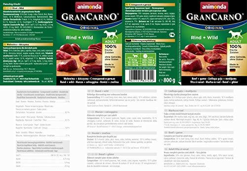 animonda GranCarno Hundefutter, Nassfutter für erwachsene Hunde, verschiedene Sorten,6 Stück - 2