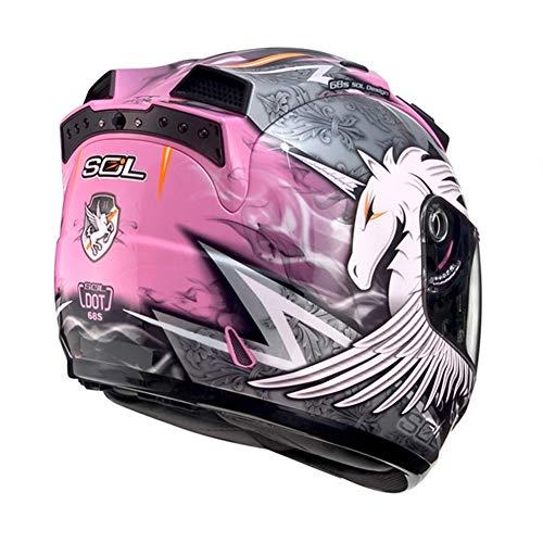 JIE KE Motorradhelm Einhorn Integralhelm Herren Und Damen Saison Racing Lokomotivhelm Schwerer Helm (Color : B, Size : XXXL)