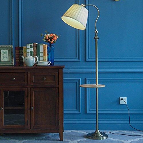 XIN Home Staande lamp, staande led, creatieve staande lamp smeedijzeren stof 160 * 30 cm woonkamer Amerikaanse Nordic sofa lamp salontafel modern eenvoudig station verlichting oogbescherming Verti bronskleurig