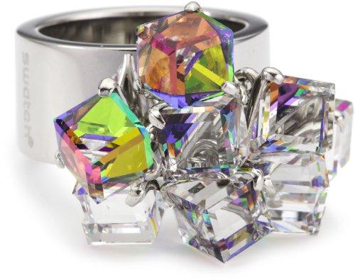 Swatch bijoux Love Explosion Ring mit Kristallwürfel, Gr. 9 JRD022-9