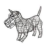 Gartenfigur Schottischer Terrier Scottie Drahtgestell 46 cm