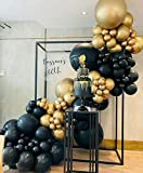 Oopat DIY Black and Gold Balloon Garland Arch Kit for 50th 60th Birthday New Year Retirements Graduation Anniversary Party Backdrop Decoration